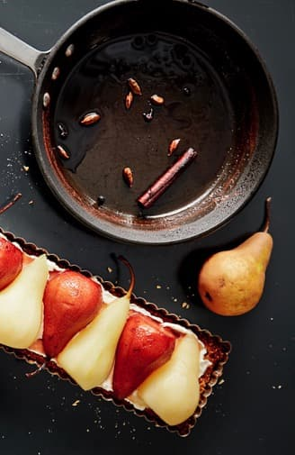 Pear Tart With Scattered Ingredients