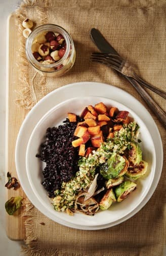 Roasted Vegetable Bowl with Hazelnut Gremolata